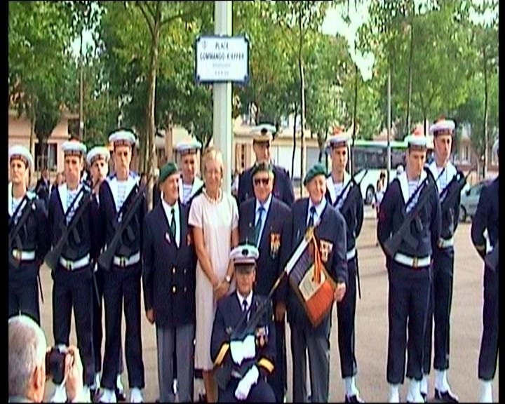 Pause photo avec la fille du Commandant Kieffer