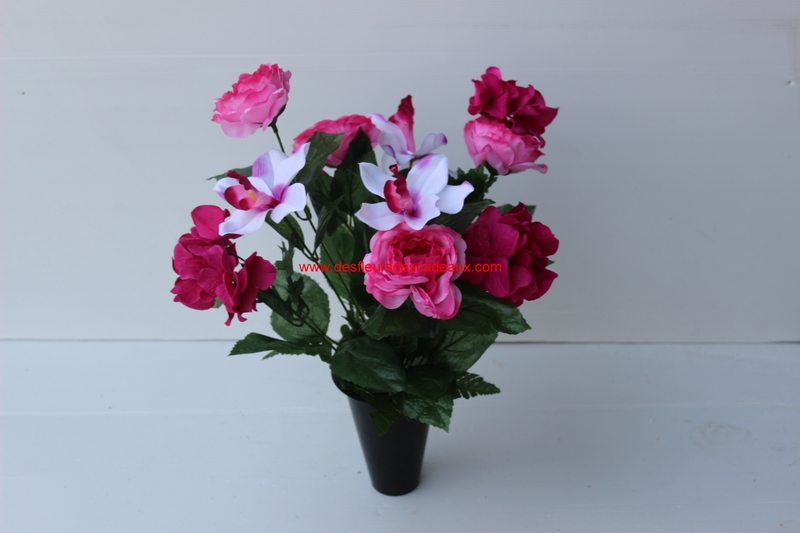 Fleurs artificielles pas chères cimetière (42)