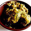 Tajine de boulette aux olives violettes