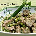 Lgumes de printemps crmeux et ris de veau au parmesan & son accord mets/vin