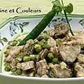 Légumes de printemps crémeux et ris de veau au parmesan & son accord mets/vin