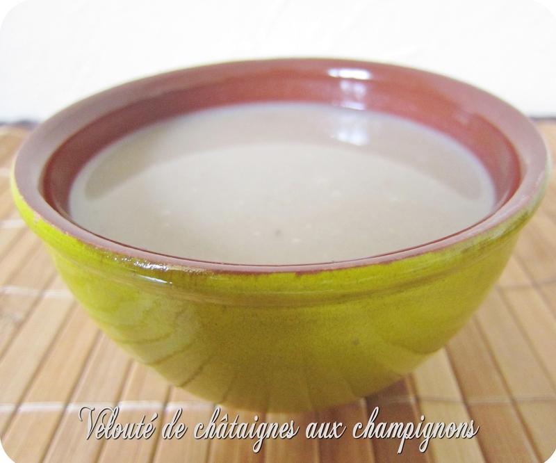 soupe champignon châtaigne (scrap)