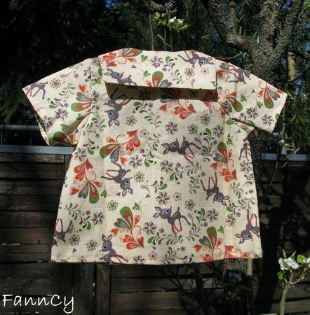 Micro-chemisette bambi de dos