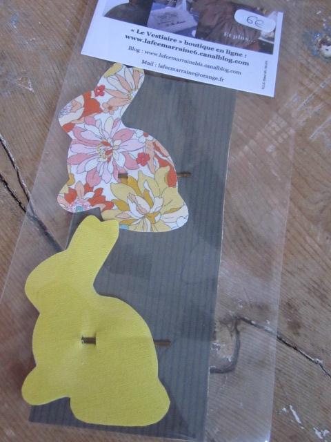 Carte de deux pinces à cheveux LAPIN (1)
