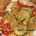 Poulet aux courgettes, tomates et feta