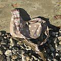 Sur la plage abandonnée...un joli sac s'est échoué!