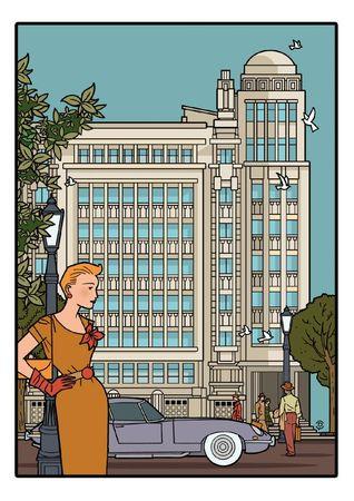 Delius dessinateur dessin couleur Antoine COURTENS Palais folle chanson BRUXELLES