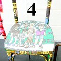 4 numérotée Chaise famille