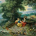 Jan breughel ii (antwerp 1601-1678) and frans francken ii (antwerp 1581-1642), an allegory of water and earth
