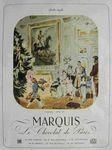 Publicité du Chocolat Marquis parution Noël 1948 dans la revue Album du Figaro illustrateur Chazelle