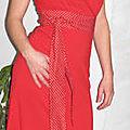 robe ruban rouge t1