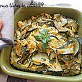 Le gratin de courgettes, parmesan et basilic
