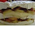 Feuilleté - camembert- lardons - pommes de terre