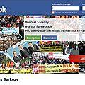Nicolas sarkozy est présent sur farcebook