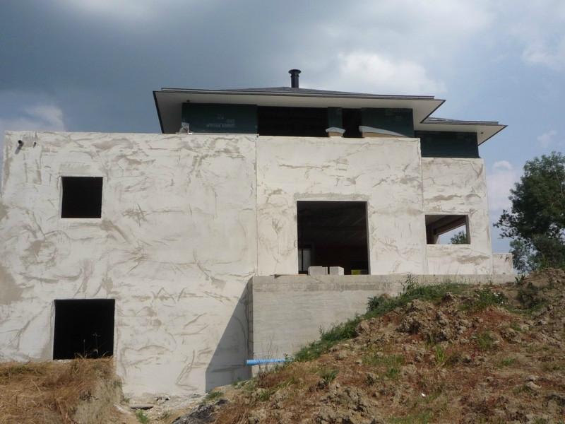 sous couche enduit termin e la construction de notre maison pas pas. Black Bedroom Furniture Sets. Home Design Ideas