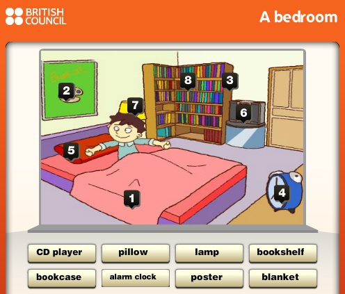 Fun games to learn words learning english at marie mauron for Bedroom 5 letter words