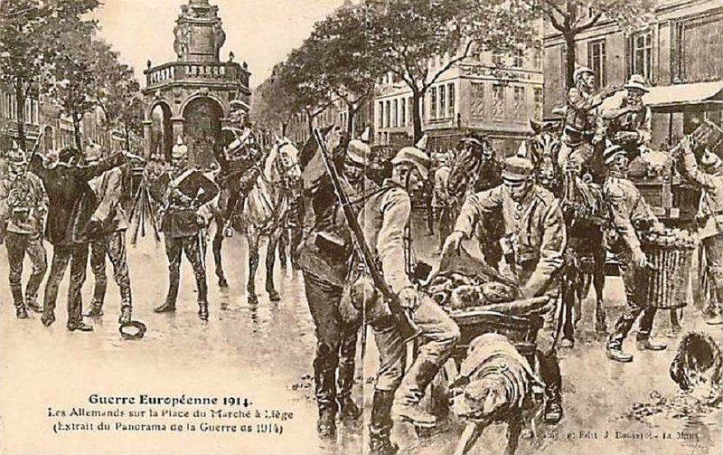 CPA Liège Soldats allemands