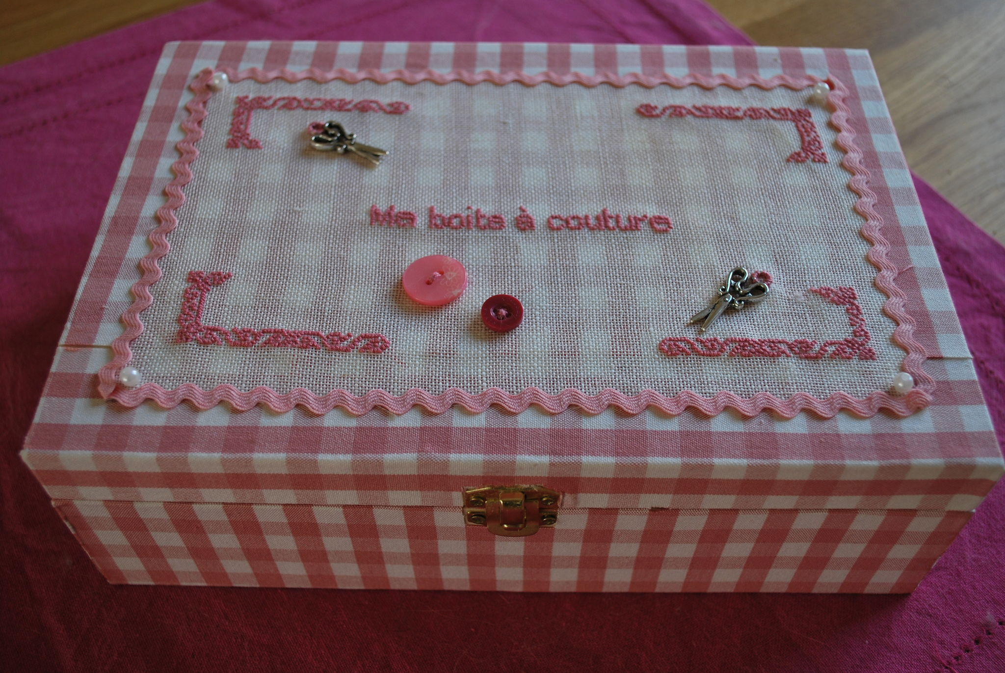 Fabrication d 39 une bo te couture personnalis e le for Boite a bouton couture