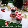 mini pots de confiture - champignons en sucre - set de table gazon www.coeurdartichaut.com