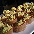 Mini quiche crevette - chantilly de curry