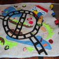 tapis de jeux de voyage, gare ferroviere, train, fold and go rai
