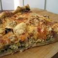 quiche au poireau et au bleu d'Auvergne