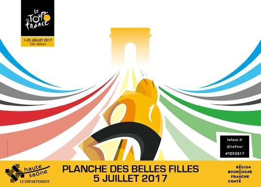 Tour de France 2017 Affiche Planche des Belles Filles