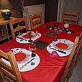 Table Saint-Valentin 2013