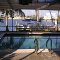 Floride 2006, notre piscine et la rivière derriere