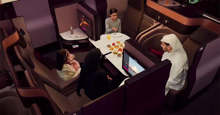 Nouvelle cabine business pour qatar airways qsuite for Migliori cabine business class 2017