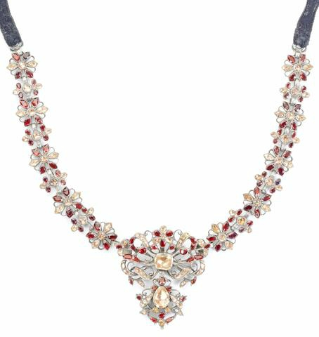 A gem-set choker, Portuguese, 3rd quarter of the 18th century