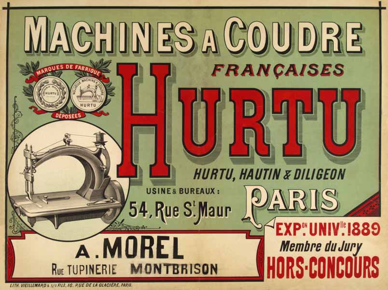Hurtu machines à coudre