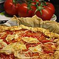 Tarte d'été aux tomates