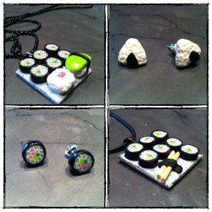 collier et boucles sushi