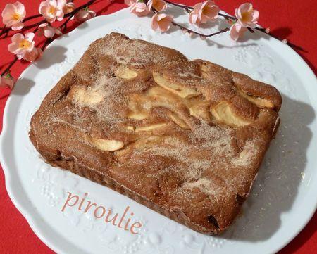 gâteau fondant aux pommes et à la crème fraîche - pâtisseries et