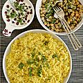 Riz au curry & raïta a la grenade