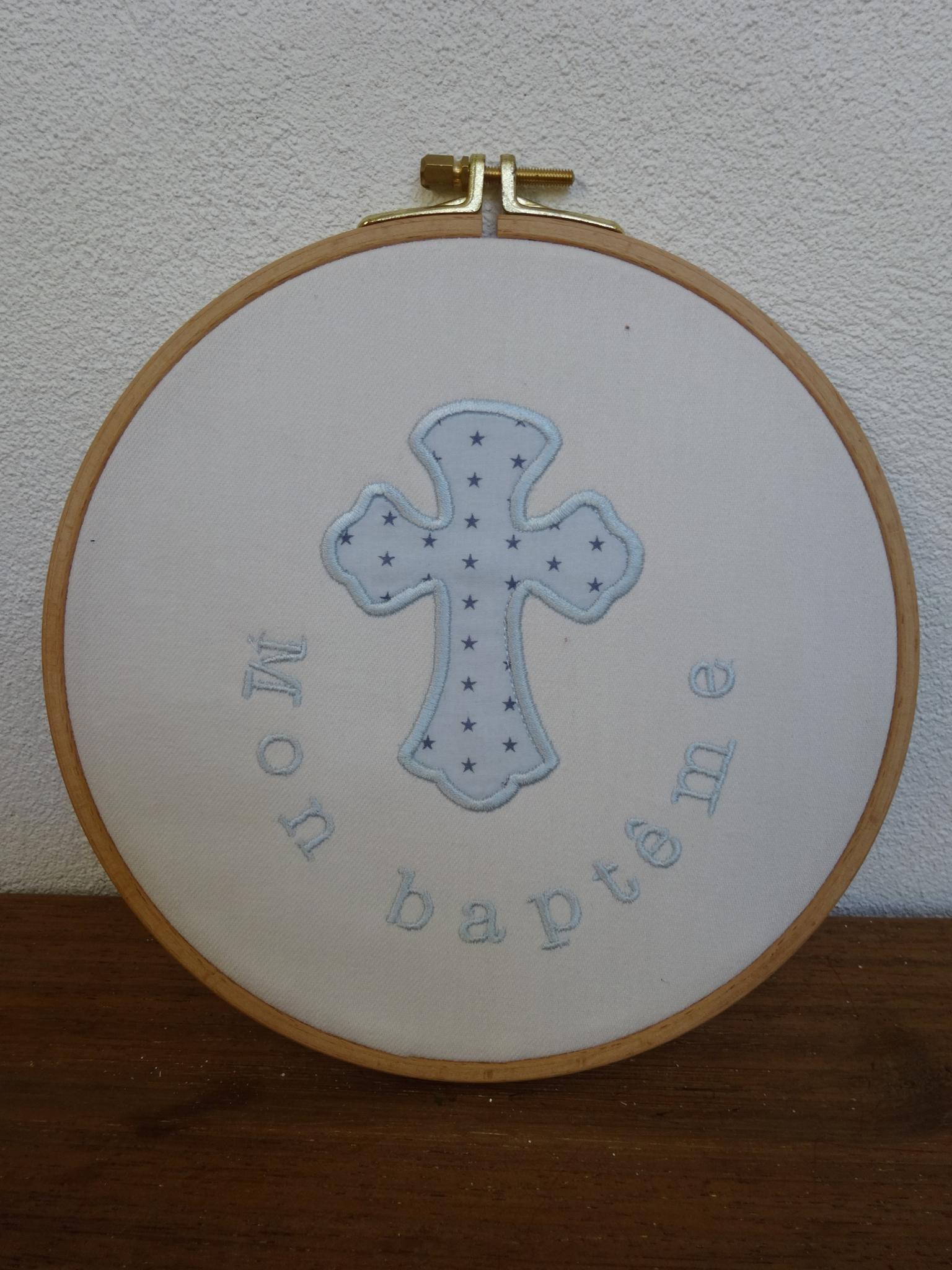 croix appliqué, tableau