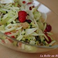 Salade de fenouil au pamplemousse et  la framboise, sans bl, sans lait