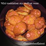 mini madeleines pralines roses