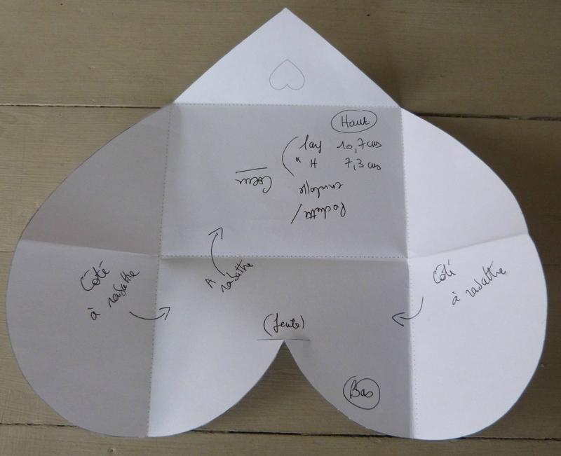 Enveloppe Coeur - Gabarit (0)