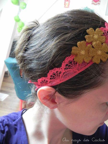 Customiser abat-jour pompons headband dentelle lurex Mercerie Chic Au pays des Cactus 7