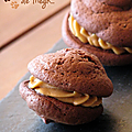 Whoopies au chocolat crme speculoos...