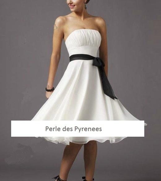 """Robe de soirée """"Lolly"""" blanche ou ivoire neuve T 36 , T38 et T40"""