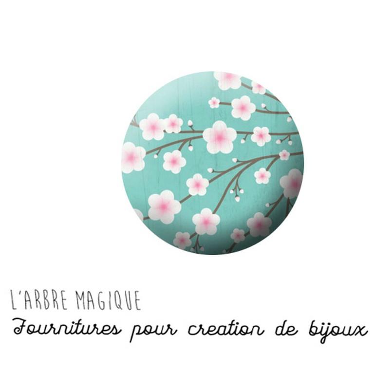 cabochon fleur 744 r