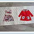 Livre en tissu (part 1) les petits habits
