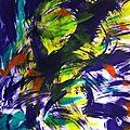 LE CRI acrylique sur papier aquarelle 65x50