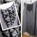 Robe trapèze en tweed