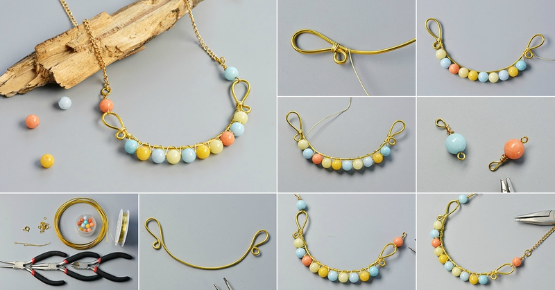Pandahall-DIY-Project-on-How-to-Make-Wire-Wrapped-Necklace-with-Jade-Beads