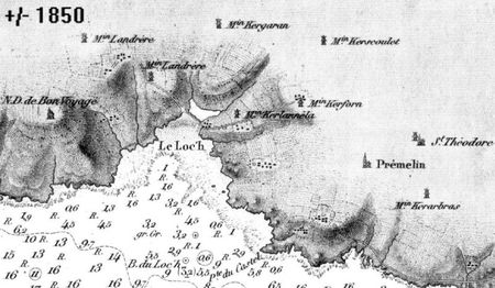 Plan du loch Primelin de 1850 (env)