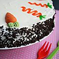 Moelleux au chocolat  la carotte, ou chocolate carrot cake 